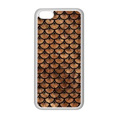 Scales3 Black Marble & Brown Stone (r) Apple Iphone 5c Seamless Case (white) by trendistuff