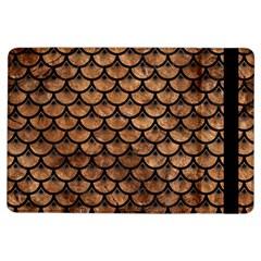 Scales3 Black Marble & Brown Stone (r) Apple Ipad Air Flip Case by trendistuff
