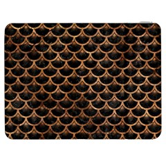 Scales3 Black Marble & Brown Stone Samsung Galaxy Tab 7  P1000 Flip Case by trendistuff