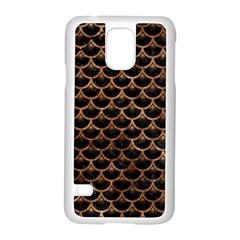 Scales3 Black Marble & Brown Stone Samsung Galaxy S5 Case (white) by trendistuff