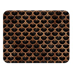 Scales3 Black Marble & Brown Stone Double Sided Flano Blanket (large) by trendistuff