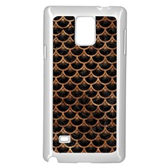 Scales3 Black Marble & Brown Stone Samsung Galaxy Note 4 Case (white) by trendistuff