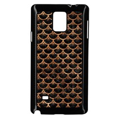 Scales3 Black Marble & Brown Stone Samsung Galaxy Note 4 Case (black) by trendistuff