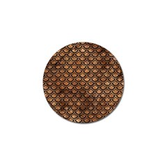 Scales2 Black Marble & Brown Stone (r) Golf Ball Marker (10 Pack) by trendistuff
