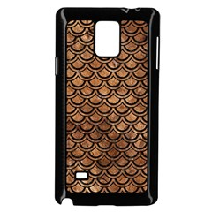 Scales2 Black Marble & Brown Stone (r) Samsung Galaxy Note 4 Case (black) by trendistuff