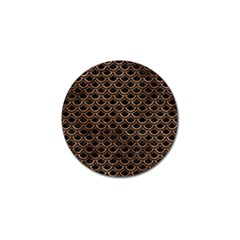 Scales2 Black Marble & Brown Stone Golf Ball Marker (10 Pack) by trendistuff