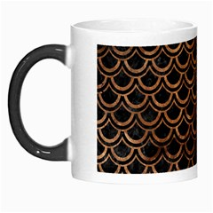Scales2 Black Marble & Brown Stone Morph Mug by trendistuff