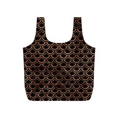 Scales2 Black Marble & Brown Stone Full Print Recycle Bag (s) by trendistuff