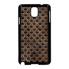 Scales2 Black Marble & Brown Stone Samsung Galaxy Note 3 Neo Hardshell Case (black) by trendistuff