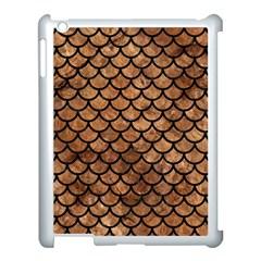 Scales1 Black Marble & Brown Stone (r) Apple Ipad 3/4 Case (white) by trendistuff