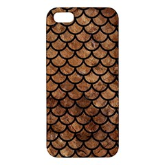 Scales1 Black Marble & Brown Stone (r) Apple Iphone 5 Premium Hardshell Case by trendistuff