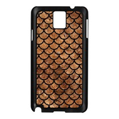 Scales1 Black Marble & Brown Stone (r) Samsung Galaxy Note 3 N9005 Case (black) by trendistuff