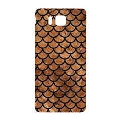 Scales1 Black Marble & Brown Stone (r) Samsung Galaxy Alpha Hardshell Back Case by trendistuff