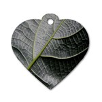 Leaf Detail Macro Of A Leaf Dog Tag Heart (Two Sides) Front