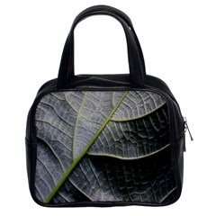 Leaf Detail Macro Of A Leaf Classic Handbags (2 Sides) by Nexatart