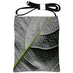 Leaf Detail Macro Of A Leaf Shoulder Sling Bags