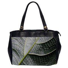 Leaf Detail Macro Of A Leaf Office Handbags (2 Sides)  by Nexatart