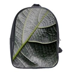 Leaf Detail Macro Of A Leaf School Bags (xl)  by Nexatart