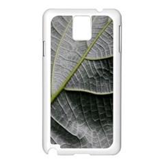 Leaf Detail Macro Of A Leaf Samsung Galaxy Note 3 N9005 Case (white)