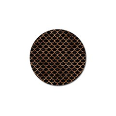 Scales1 Black Marble & Brown Stone Golf Ball Marker (10 Pack) by trendistuff