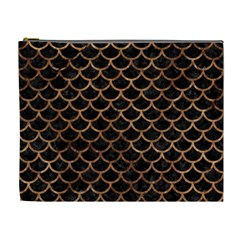 Scales1 Black Marble & Brown Stone Cosmetic Bag (xl) by trendistuff