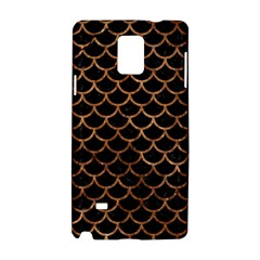 Scales1 Black Marble & Brown Stone Samsung Galaxy Note 4 Hardshell Case by trendistuff