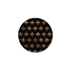 Royal1 Black Marble & Brown Stone (r) Golf Ball Marker (10 Pack) by trendistuff