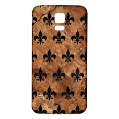Royal1 Black Marble & Brown Stone Samsung Galaxy S5 Back Case (white) by trendistuff