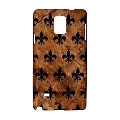 Royal1 Black Marble & Brown Stone Samsung Galaxy Note 4 Hardshell Case by trendistuff