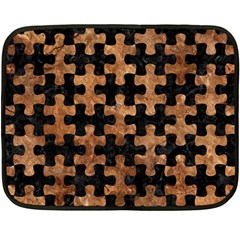 Puzzle1 Black Marble & Brown Stone Double Sided Fleece Blanket (mini)