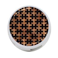 Puzzle1 Black Marble & Brown Stone 4 Port Usb Hub (one Side) by trendistuff