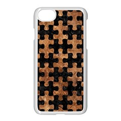Puzzle1 Black Marble & Brown Stone Apple Iphone 7 Seamless Case (white) by trendistuff