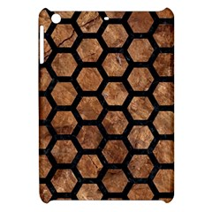 Hexagon2 Black Marble & Brown Stone (r) Apple Ipad Mini Hardshell Case by trendistuff