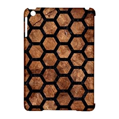 Hexagon2 Black Marble & Brown Stone (r) Apple Ipad Mini Hardshell Case (compatible With Smart Cover) by trendistuff
