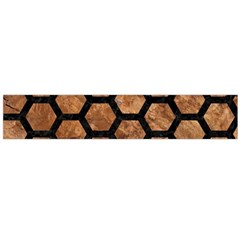 Hexagon2 Black Marble & Brown Stone (r) Flano Scarf (large) by trendistuff