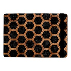 Hexagon2 Black Marble & Brown Stone Samsung Galaxy Tab Pro 10 1  Flip Case by trendistuff