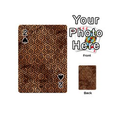 Hexagon1 Black Marble & Brown Stone (r) Playing Cards 54 (mini) by trendistuff