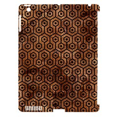 Hexagon1 Black Marble & Brown Stone (r) Apple Ipad 3/4 Hardshell Case (compatible With Smart Cover) by trendistuff