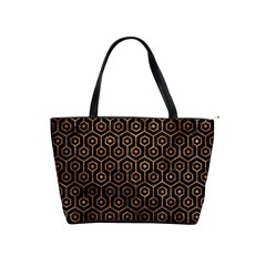 Hexagon1 Black Marble & Brown Stone Classic Shoulder Handbag by trendistuff