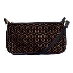 Hexagon1 Black Marble & Brown Stone Shoulder Clutch Bag by trendistuff