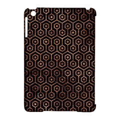 Hexagon1 Black Marble & Brown Stone Apple Ipad Mini Hardshell Case (compatible With Smart Cover) by trendistuff