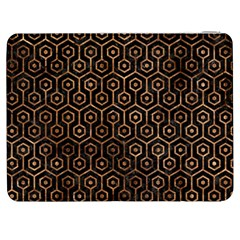 Hexagon1 Black Marble & Brown Stone Samsung Galaxy Tab 7  P1000 Flip Case by trendistuff