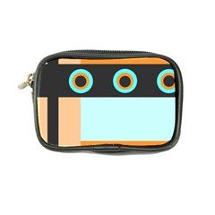 Orange, Aqua, Black Spots And Stripes Coin Purse by theunrulyartist