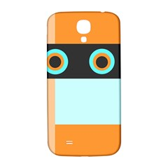 Orange, Aqua, Black Spots And Stripes Samsung Galaxy S4 I9500/i9505  Hardshell Back Case by theunrulyartist