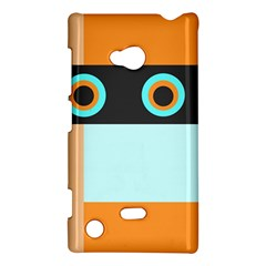Orange, Aqua, Black Spots And Stripes Nokia Lumia 720 by theunrulyartist