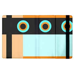 Orange, Aqua, Black Spots And Stripes Apple Ipad Pro 9 7   Flip Case by theunrulyartist