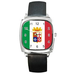 Naval Ensign Of Italy Square Metal Watch by abbeyz71