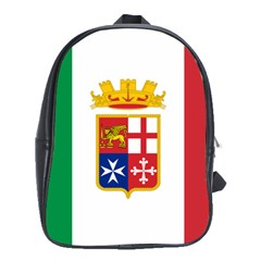 Naval Ensign Of Italy School Bags(large)  by abbeyz71