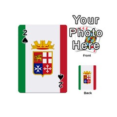 Naval Ensign Of Italy Playing Cards 54 (mini)  by abbeyz71