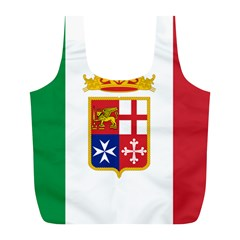 Naval Ensign Of Italy Full Print Recycle Bags (l)  by abbeyz71